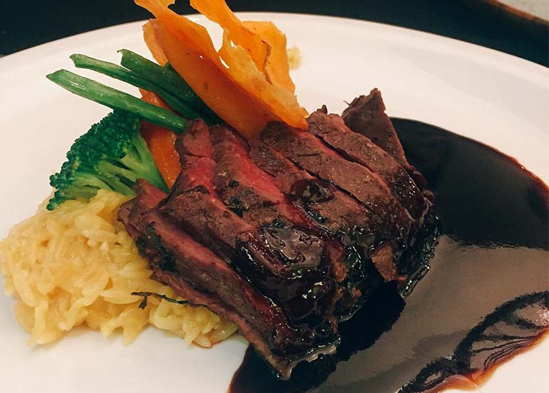 Grilled Tender Steak from Ninyo Fusion Cuisine and Wine Lounge