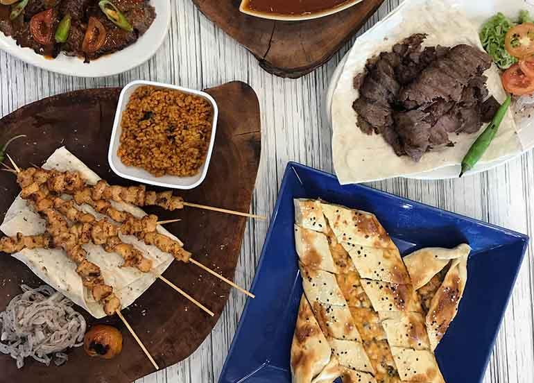 Kebab and Pita from FETA Mediterranean