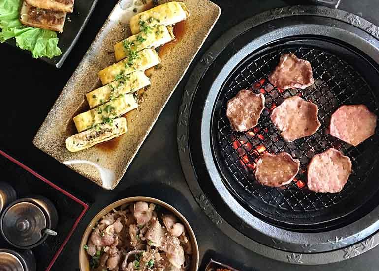 Grilled Meat and Tamago from Tajimaya