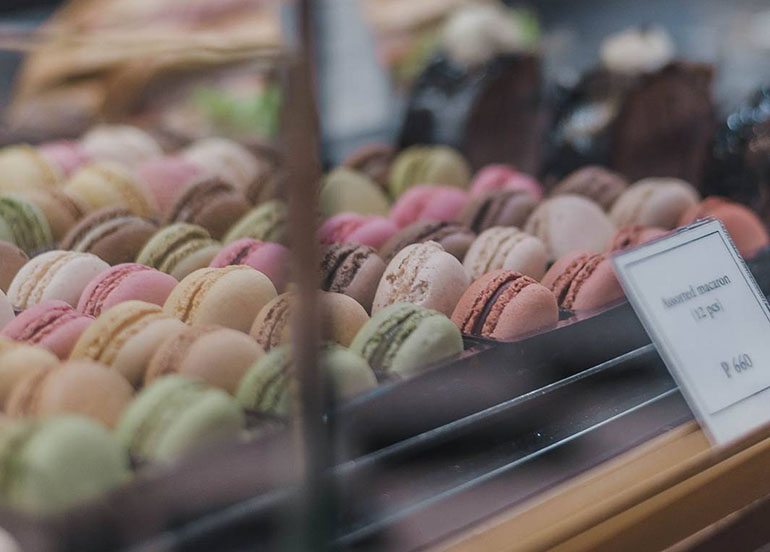 Macarons from Paul Boulangerie Cafe