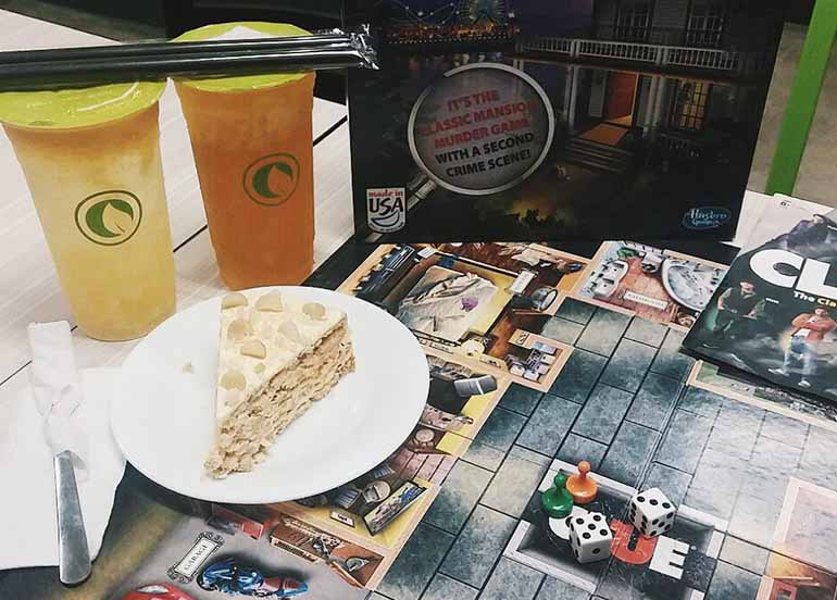 Milk Tea, Cake, and Board Games from Moonleaf x Bunnies