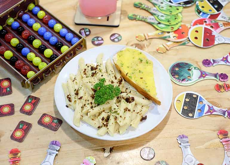 Food and Games from TableTaft Boardgame Cafe