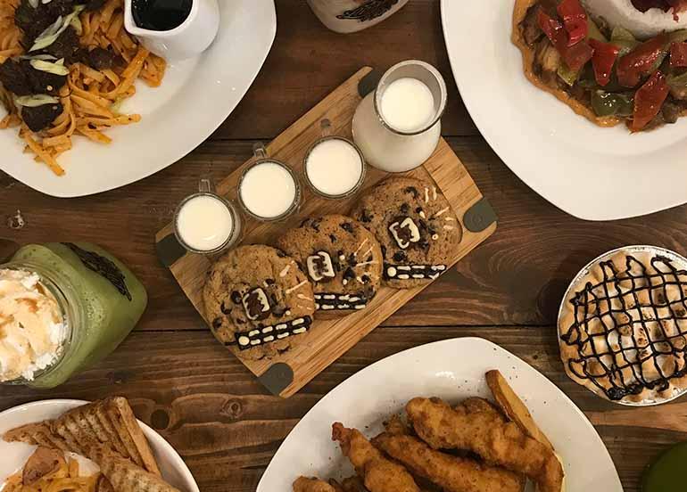 Cookies, Milkshakes, Wings, Smores Pie from Laruan ATBP