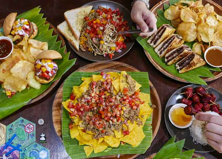 Nachos, Meals, Pasta from Snacks and Ladders