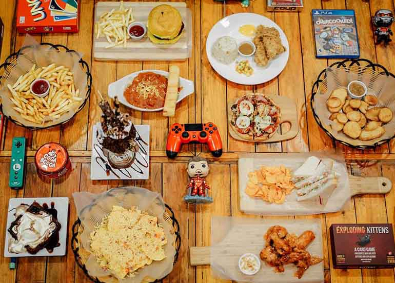Food and Board Games from Secret Base