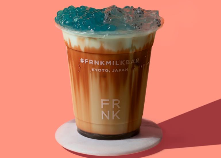 blue lava miruku, frnk milk bar, milk tea