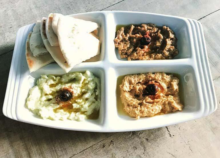 Hummus, Babaganoush, Tzatziki with Pita Wedges from Ble Real Greek Food
