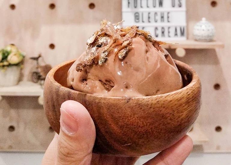 Champorado and Tuyo Ice Cream from Leche Ice Cream