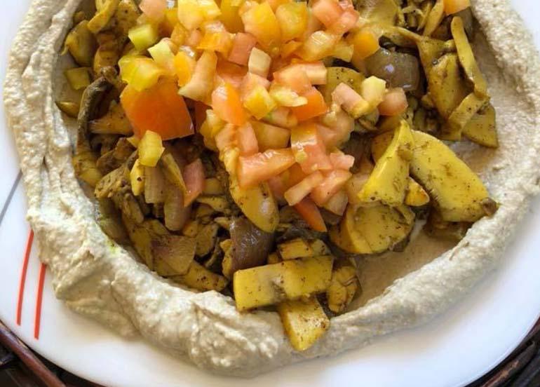 Hummus, Potatoes, Tomatoes from Maya Siargao