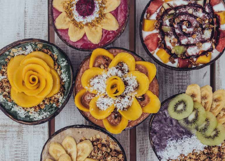 Smoothie Bowls from Shaka Cafes