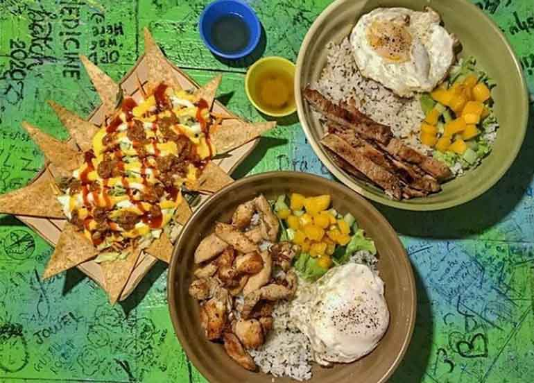 Rice Bowls and Nachos from Dreamland Arts & Crafts Cafe