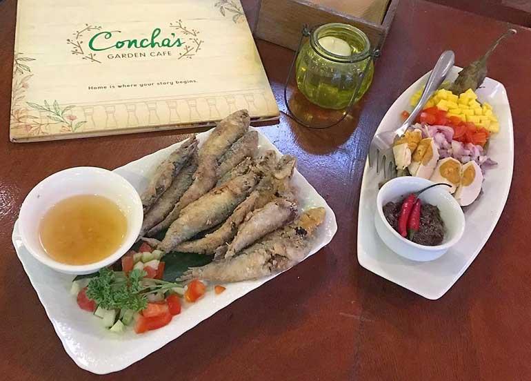 Tawilis at Talong from Concha's Garden Cafe, Tagaytay