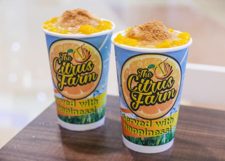 the citrus farm mango graham drink