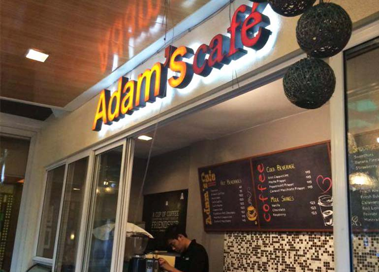 Adam's Cafe Tagaytay Menu and Sign