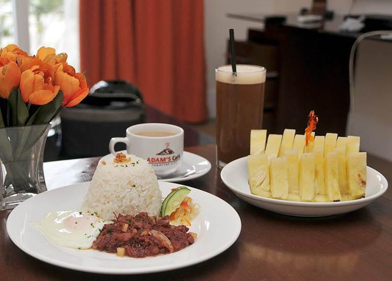 Adam's Cafe Tagaytay Breakfast