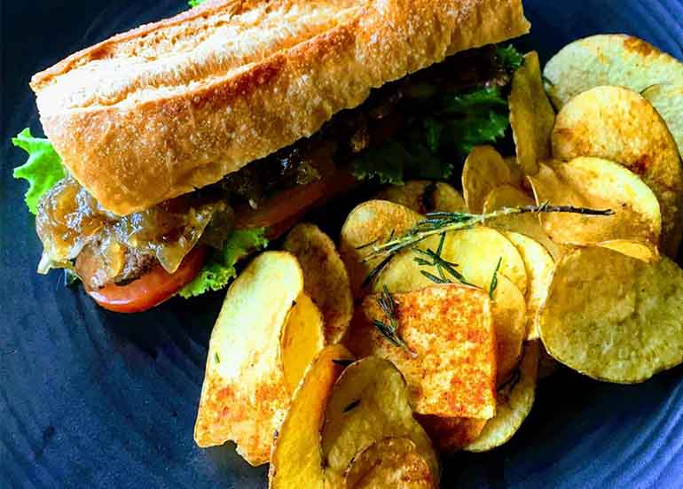 Sandwich and Chips from Gourmet's Cafe Tagaytay