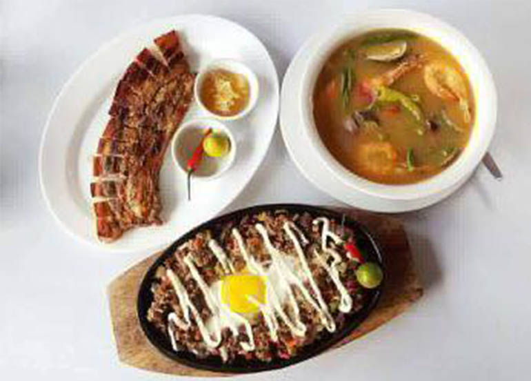 Sinigang, Sisig, and Liempo from Char's Garden Cafe Tagaytay