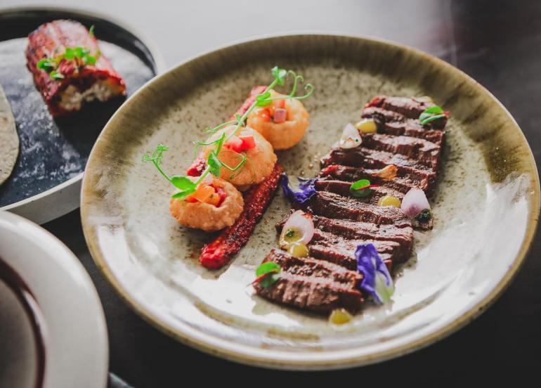 alegria bgc restaurants flower dishes