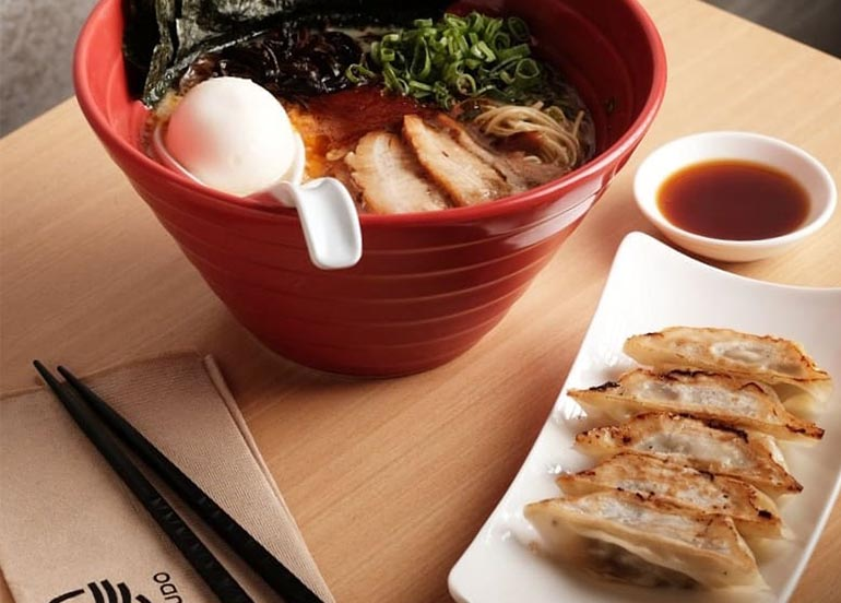 Hakata-Style Gyoza and Ramen from Ippudo