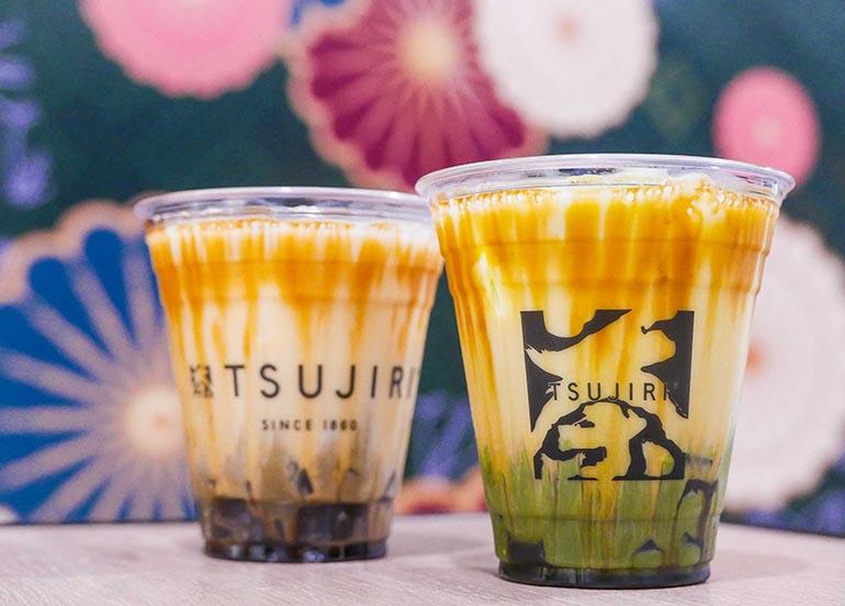 Kuromitsu Jelly Latte from Tsujiri