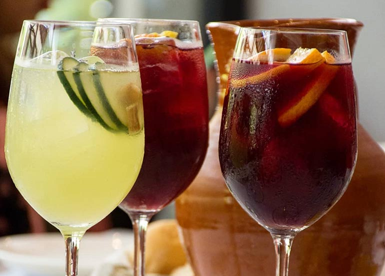 White and Red Sangria from Tapella Resto Bar