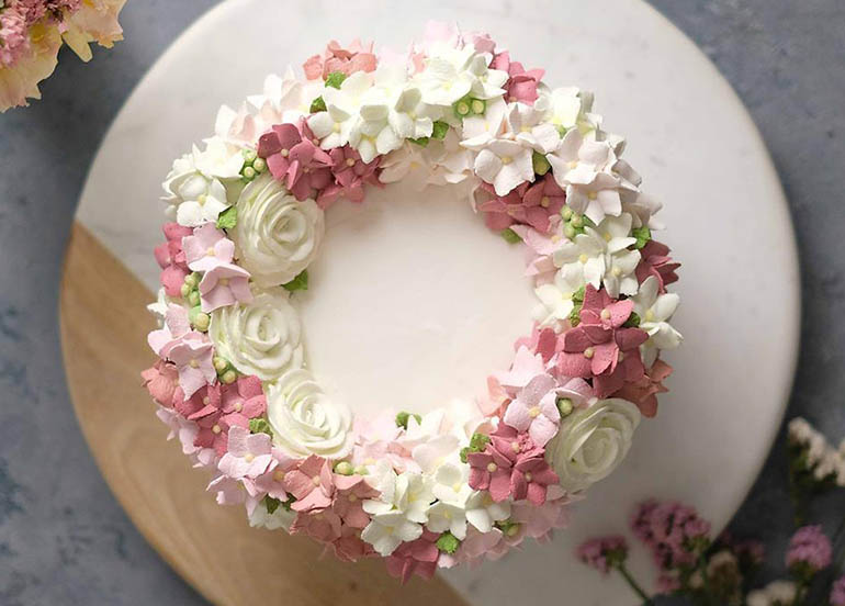Floral Designed Cake from Cafe Mary Grace