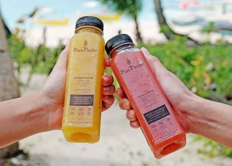 fruit juices, detox diet, pure nectar