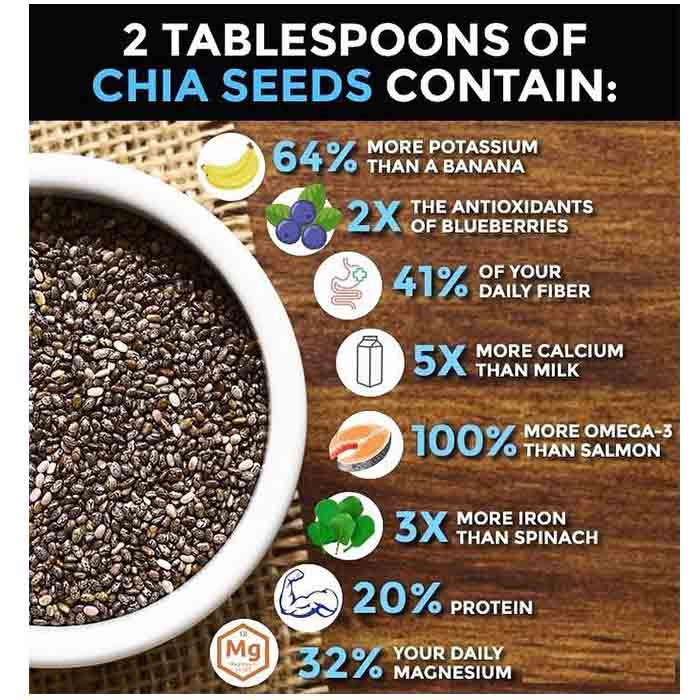 Chia Seeds Nutrional Information