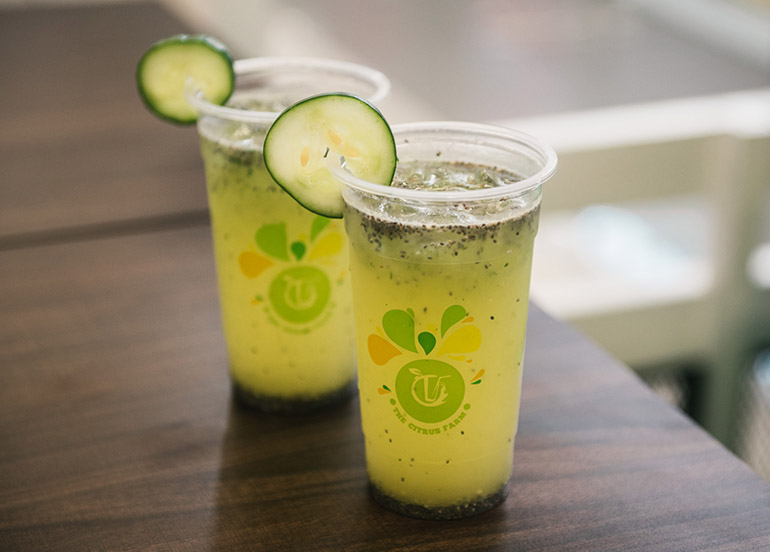 Cucumber Calamansi with Chia Seeds from The Citrus Farm