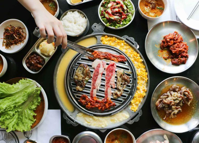 samgyupsal, samgyeopsal, korean restaurant, korean bbq, pork belly recipe