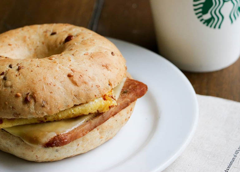 Spam Jalapeno, Egg and Gouda Cheese on Supergrain Bagel from Starbucks