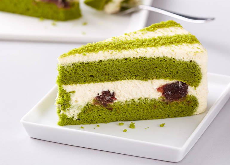 Green tea Red Bean Mascarpone Cake from Starbucks Thailand