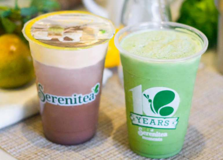 yakult milk tea fruit tea serenitea