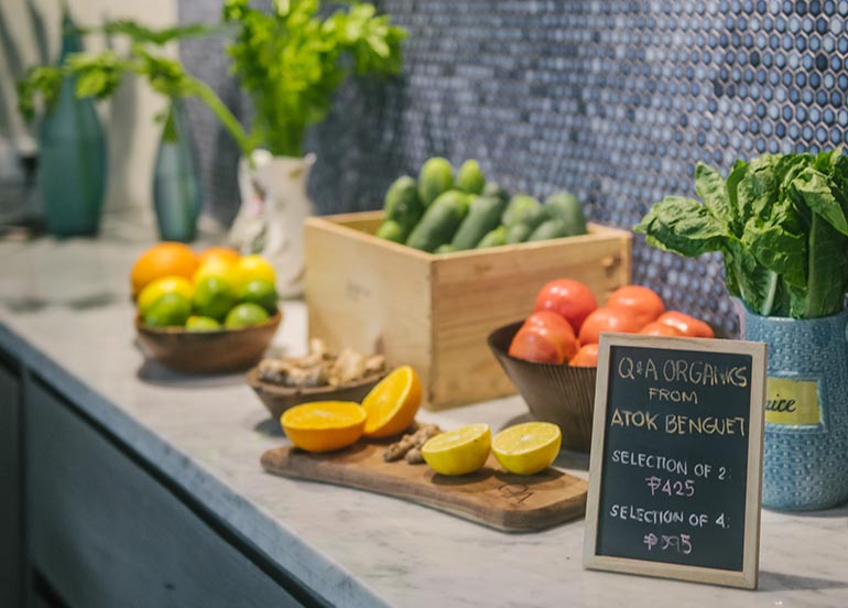 Fruits and Vegetables from Q & A Kitchen + Bar