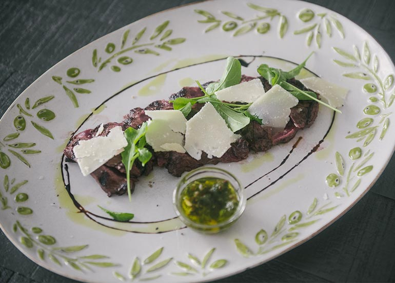Angus Skirt Steak from Q & A Kitchen + Bar