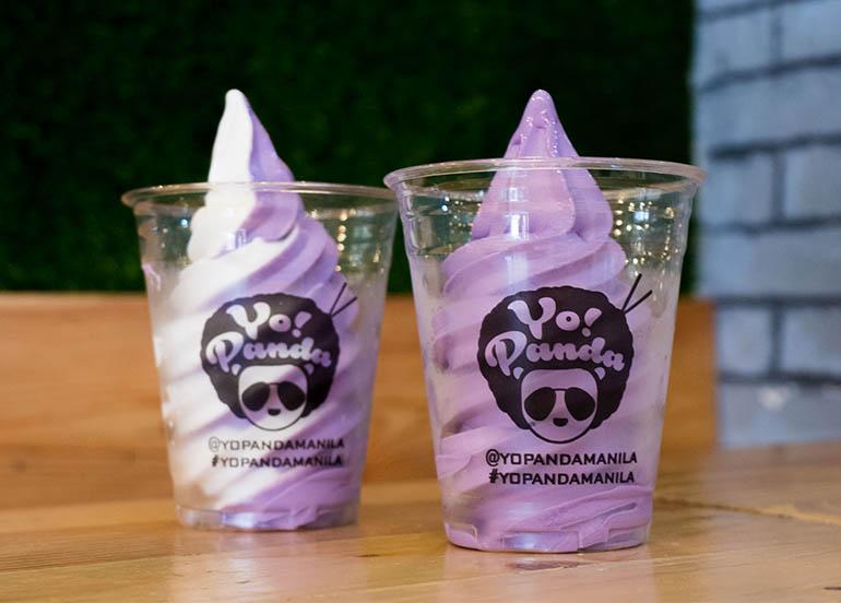 Ube and Vanilla Soft Serve Ice Cream from Yo! Panda