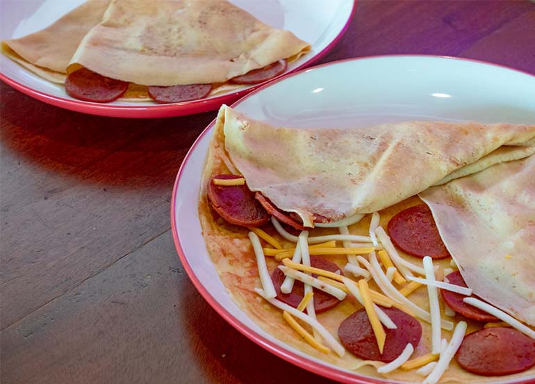 Pepperoni Pizza Crepe from Crepeman