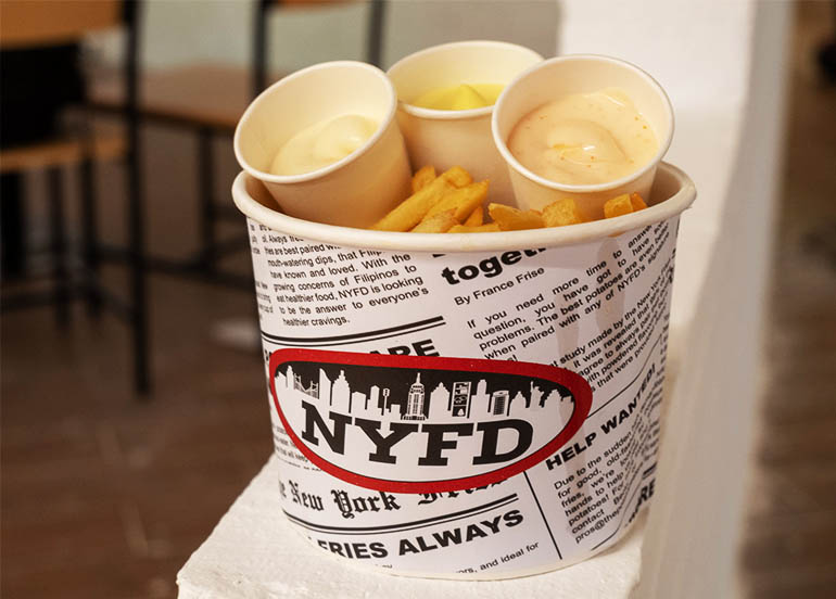 Queen's Size Shoestring Fries from NYFD