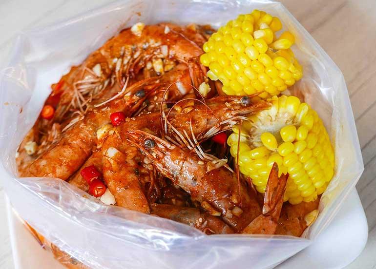 Shrimp in a Bag from Choobi Choobi