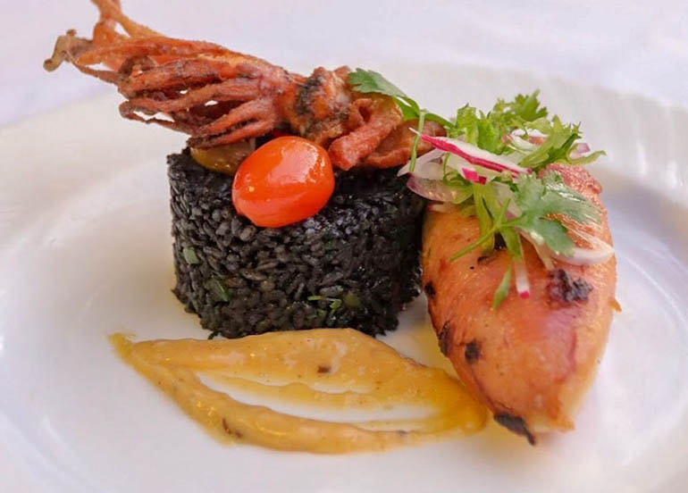 Sous Vide Calamari and Squid Ink Rice from Antonio's Tagaytay