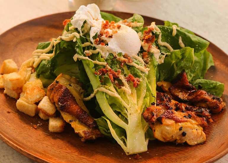 Grilled Inasal Caesar Salad from Amacena Tagaytay