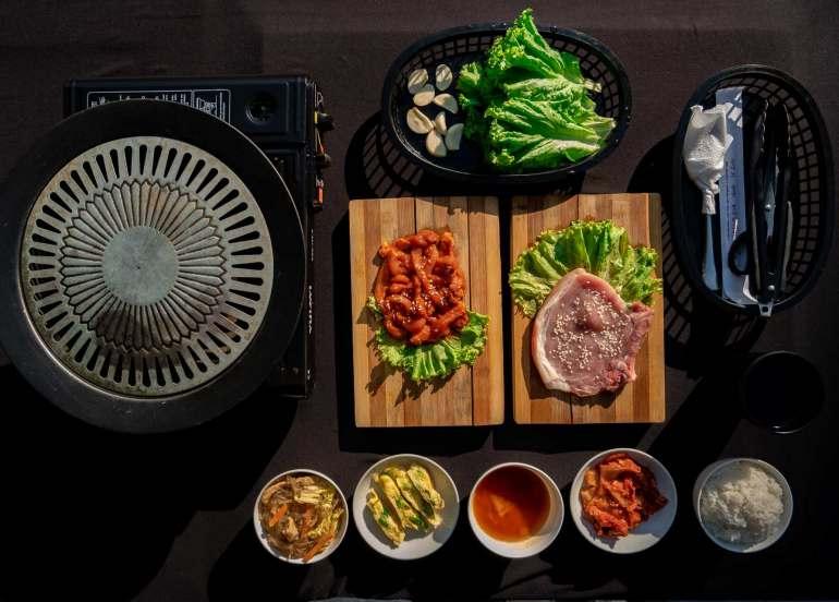 spa, samgyupsal, korean barbecue