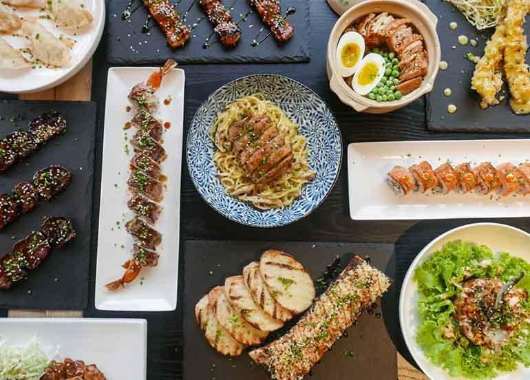 Japanese dishes form Fukujin Izakaya