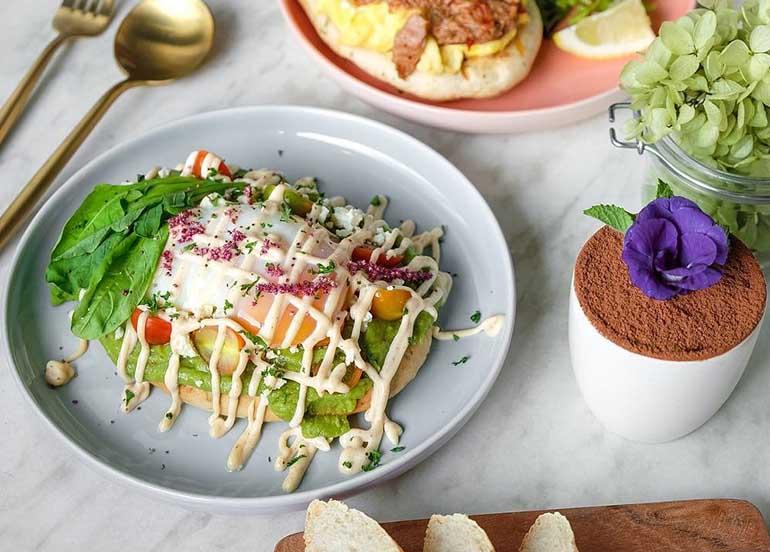 Avocado Toast and Tiramisu from Flossom Kitchen + Cafe