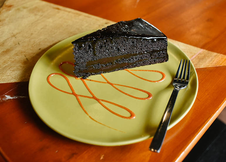 Moist Chocolate Cake from Classified Kitchen + Wine Cafe