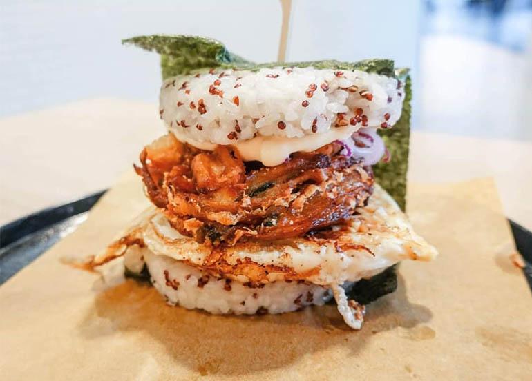 mos rice burger japan, international restaurants, burgers