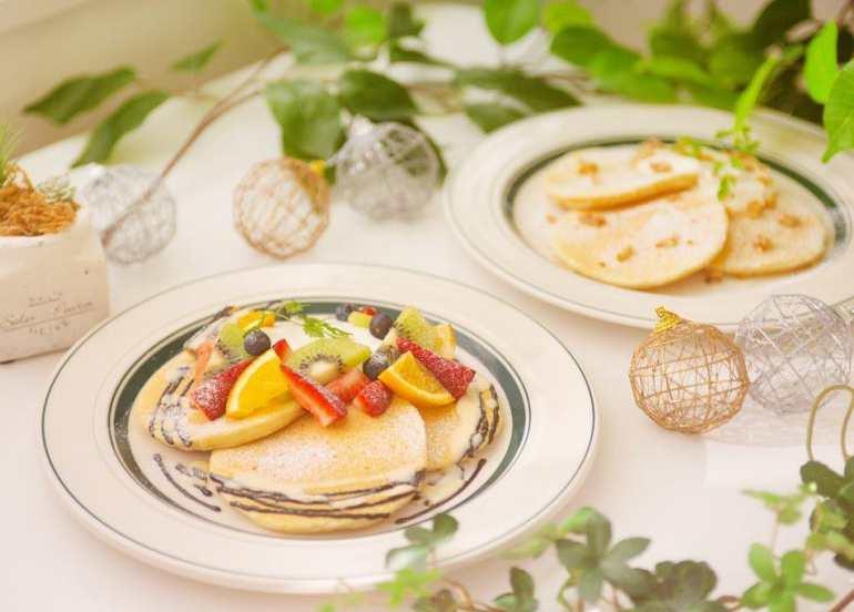 gram cafe souffle pancakes fruits