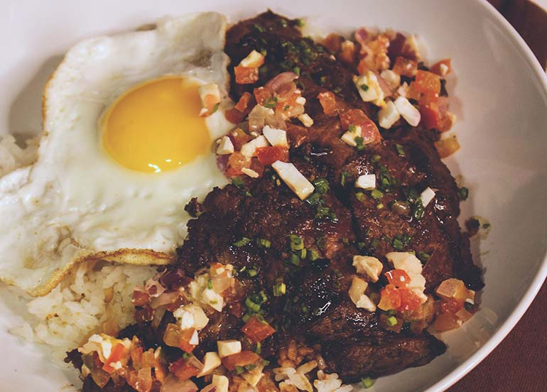 Chuck Tapa Steak from Breakfast All Day