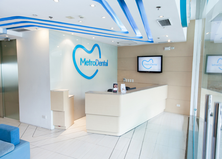 MetroDental Interior and Reception Area
