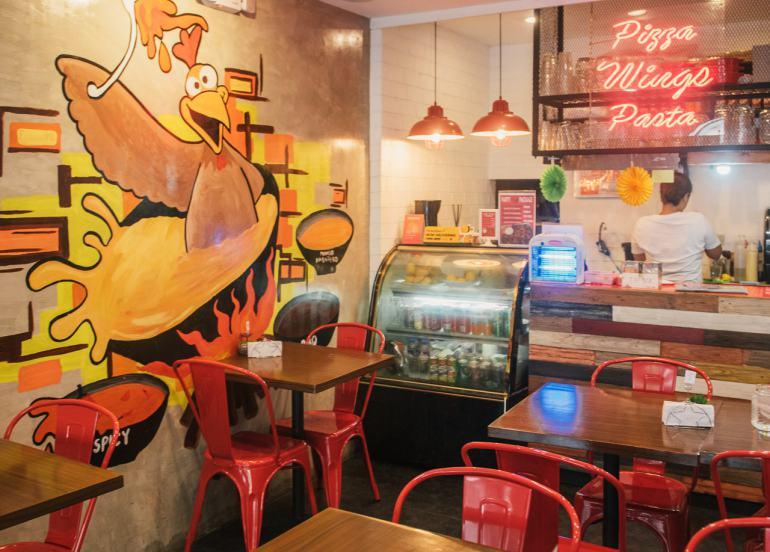 crazy wings, maginhawa restaurants, maginhawa street, fried chicken, wings